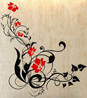 Colourful Vine Flowers And Swirls - Large Vinyl Wall Stickers. Many colours. NEW