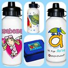 CHILDRENS BOYS GIRLS KIDS PERSONALISED SCHOOL DRINK JUICE WATER DRINKING BOTTLE