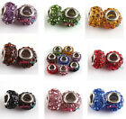 5pcs Crystal Rhinestone Crystal Beads Fit European Charms Bracelets Pick