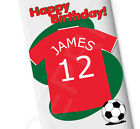 Football SHIRT Chocolate Bar BIRTHDAY GREAT GIFT BOYS PERSONALISED