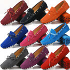 US5-9 Suede Leather Comfort Slip On loafers ribbon flat ballerina Women Shoes