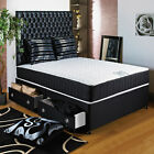 "3FT SINGLE DIVAN BED +11"" ORTHO MEMORY FOAM MATTRESS + HEADBOARD/DRAWERS SALE"