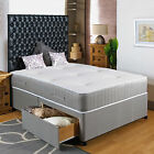 "3FT SINGLE DIVAN BED +11"" POCKET MEMORY SPRUNG MATTRESS + HEADBOARD/DRAWERS SALE"