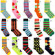4 Pairs Lot Mens Designer Fashion Dress Socks New Stripe Argyle Color Size 6-12