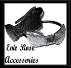 New Rockabilly Kitsch Oversize Large Sequinned Ribbon Tie Bow Satin Alice Band