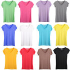 HOT SALE candy colors CREW/V-NECK Short Sleeve Womens Solid Tops Slim T-Shirts