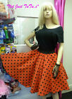 50's CIRCLE SKIRT 50'S SWING PARTY DANCE FANCY DRESS FREE P&P ROCK N ROLL