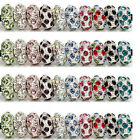 Wholesale 25x Crystal Rhinestone European Charms 12mm Beads Fit Bracelet U PICK