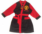 BOYS DRESSING GOWN BATH ROBE MANCHESTER UNITED 4-12 YEARS OLD BLACK BNWT