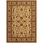 CREAM IVORY BEIGE BORDERED TRADITIONAL AREA RUG PERSIAN ORIENTAL FLORAL CARPET