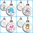 PERSONALISED CHILDRENS GIRLS BOYS BABY CHRISTMAS TREE BAUBLES unusual gift idea