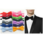 Satin Silk Tie Wedding Tie Tuxedo PreTied Bowtie Groom Bestman Party adjustable