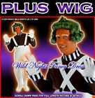 FANCY DRESS OUTFIT MENS FACTORY WORKER + GREEN WIG