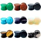 3MM - 28MM STONE EAR PLUG SEMI PRECIOUS STRETCHER TUNNEL TAPER SADDLE TIGER EYE