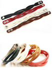 1pc Fashion Twisted Waved Leather Belt Bracelet Wristband Bangle 4 Colors PICK