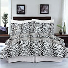 3 PIECE DUVET COVER - ZEBRA - 100% EGYPTIAN COTTON - FULL/QUEEN & KING/CAL KING