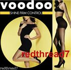 Voodoo New Shine Firm Control Sheer Pantyhose Stockings Nude Black Sz Ave Tall X