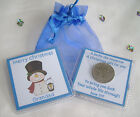 PERSONALISED CHRISTMAS LUCKY SIXPENCE SNOWMAN  STOCKING FILLER KEEPSAKE GIFT