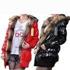 New Womens Cotton-Padded Fur Hoodies Jacket Warm Winter Coat Outwear M L XL XXL