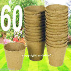 "8cm (3"") Bio Degradable Peat Pots Seeds Cuttings Planting Plant Flowers Pot New"