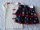 NWT Girl's Gymboree Cherry Cute white short sleeve shirt & blue skirt skorts 6 7