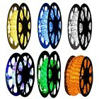 "100Ft LED Rope Light Decorative Round 2-Wire 1/2"" Home Christmas Outdoor 6 Color"