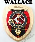 WALLACE CLAN CREST WALL PLAQUE PLAQUES AVAILABLE IN ANY CLAN NAME