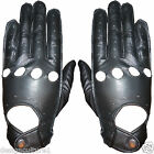 Men's Black Real Leather Driving Shooting Soft Nappa Gloves - Classic Design