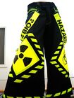 Schminke  Phat pants reflective dance clothing rave reflector UV festival 90s