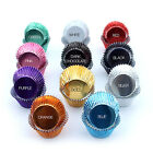 Quality Foil Metallic Cupcake Muffin Baking Cases Multi Colours UK