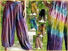 "HAREM PANTS - TIE DYE LEGGINGS , BALLOON, BAGGY 39"" - MIXED COLOURS/ DESIGNS"