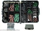 Carp Fishing Tackle Box Lead clips Beads Swivels Hooks Tail Rubbers Hair Rigs
