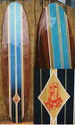 Easter Island Decorative Wood Surfboard Wall Art for a Coastal Beach Home Decor