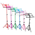 Top Quality Metal Folding Sheet Music Stand Holder Tripod Base Foldable + Case C
