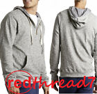 Bonds Mens Jumper Casual Hoodie Hooded Zip Sweater Top Pocket Grey Size S M L XL