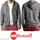 Bonds Mens Slim Striped Fleece Hoodie Zip Jacket Hooded Top Hoodies Jumper Size