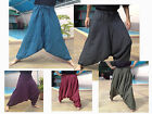 MENS HAREM PANTS - DEEP DROP- DRAWSTRING WAIST COTTON STRIPE