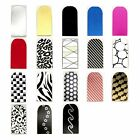 16pcs Nail Foil Nail Art Sticker Patch Nail  Wraps for Fingers & Toes 118