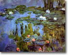 HUGE Monet Water Lilies, 1915 Stretched Canvas Giclee Art Repro Print ALL SIZES