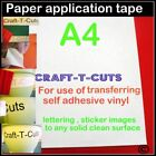 A4 VINYL APPLICATION TRANSFER PAPER REUSABLE  TAPE CRAFT SIGN HOME CAR  WALL ART