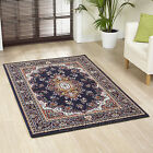 EXTRA LARGE LARGE MEDIUM NAVY BLUE IVORY CLASSIC TRADITIONAL BUDGET PRICE RUGS