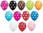 "Pack of 6 Qualatex 11"" Polka Dot Latex Party Balloons (Helium or Air) Birthday"