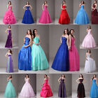 Stock Long Formal Prom Dresses Party Evening Dress Quinceaneara Ball GownSz:6-16