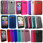 Soft Silicone Hydro Gel Circle Hard Hybrid Back Case Cover For HTC Desire HD
