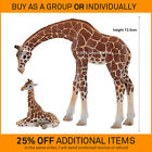 New BULLYLAND plastic animal figures toy wild zoo replicas GIRAFFE & CALF 63668