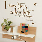 Winnie The Pooh, Aa Soon As I Saw Children  Art Wall Quote Stickers / Wall Decal