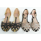 US5-9 Fashion Suede Beaded Comfort T-strap Sandals womens flats ballerina shoes