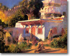 HUGE Renoir Mosque at Algiers Stretched Canvas Giclee Art Print Repro  ALL SIZES