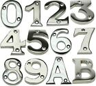 Chrome Plated Screw In House Door Numeric Number Letter Digits Plaque Sign