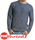 Bonds Mens Blue Denim Slim Sloppy Joe Jumper Sweater Top Size S M L XL XL XXL